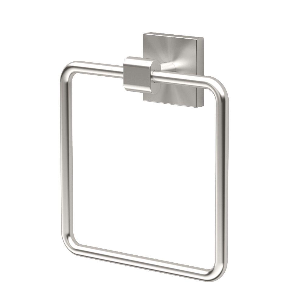 Gatco Elevate Towel Ring Satin Nickel