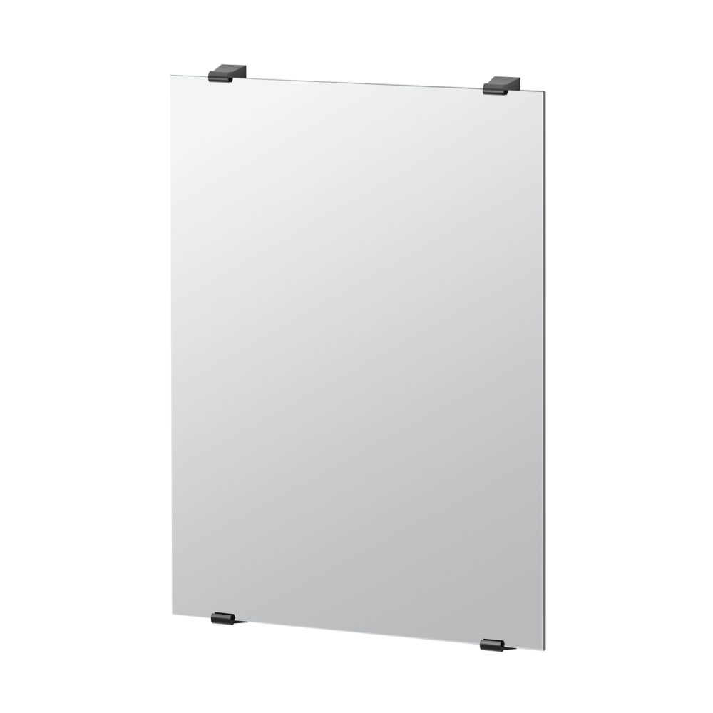 Gatco Bleu 30 inch H Frameless Minimalist Rectangle Mirror Matte Black