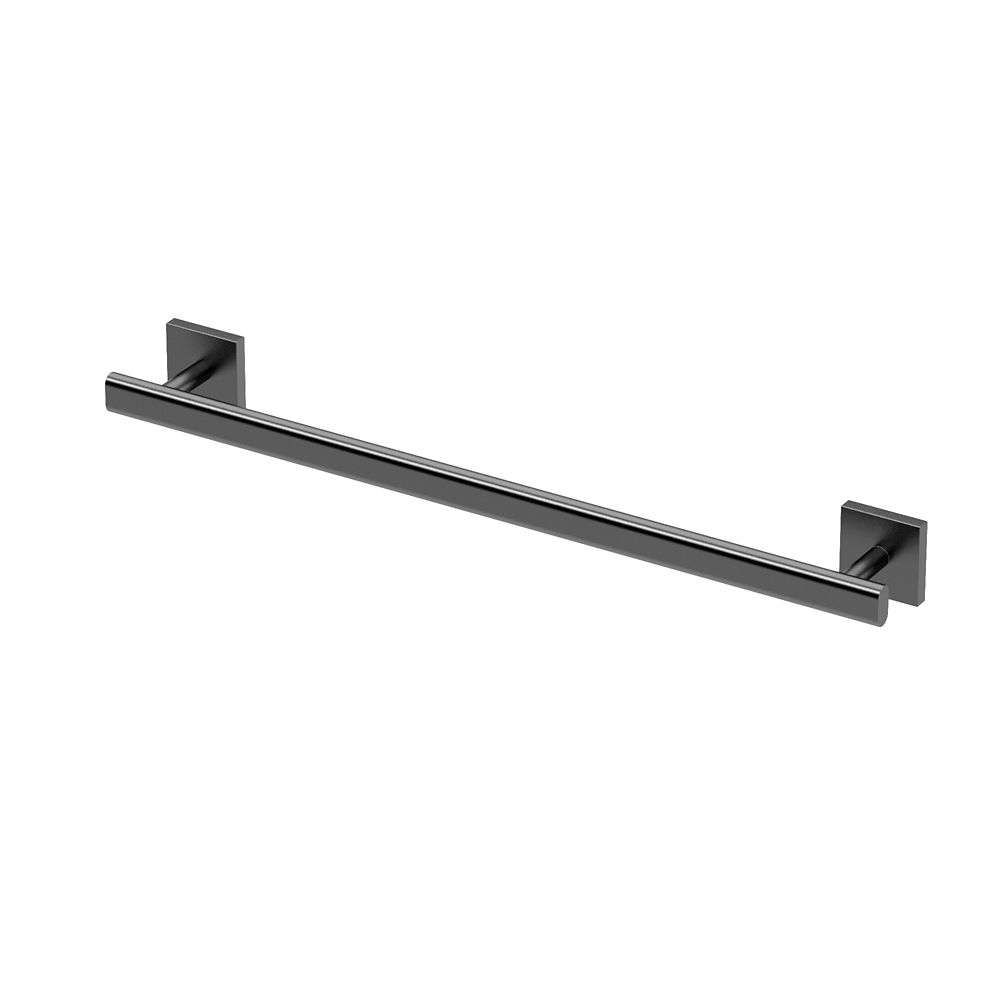 Gatco Elevate 18 inch L Towel Bar Matte Black