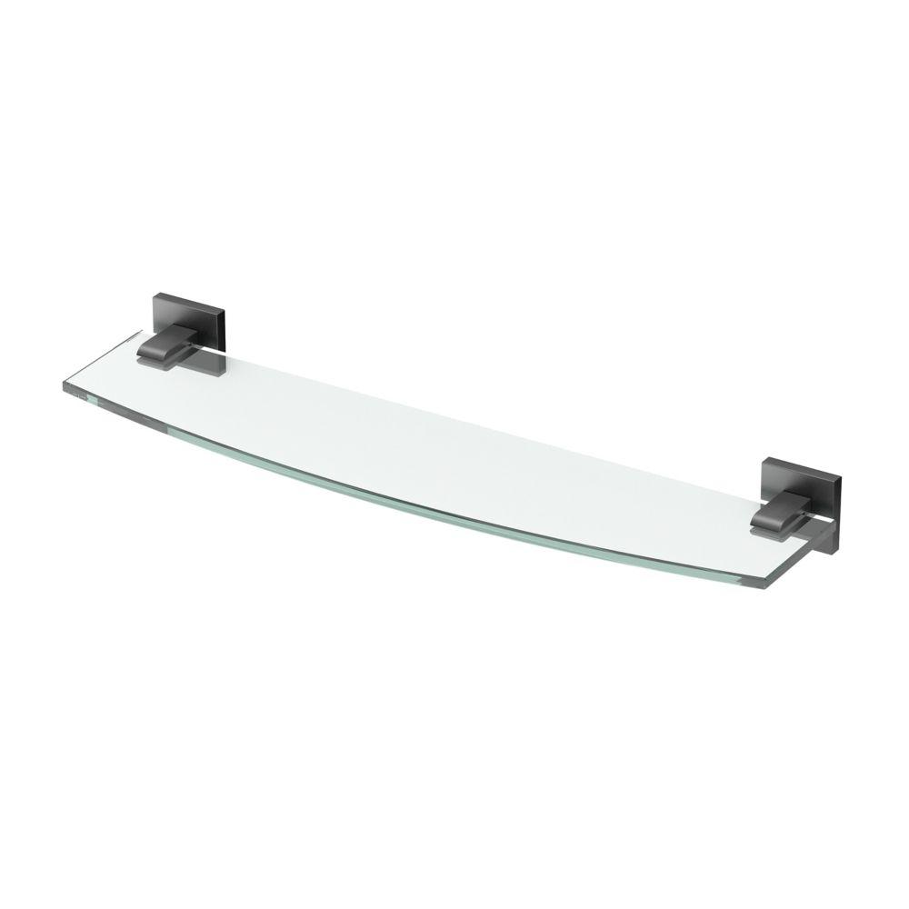Gatco Elevate 20 1/8 inch L Glass Shelf Matte Black