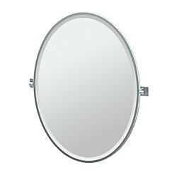 Gatco Elevate 33 po miroir ovale encadré chromé