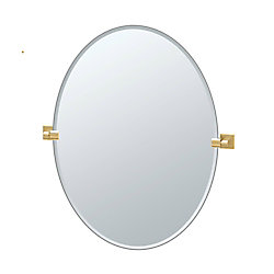 Gatco Elevate 32 po sans cadre ovale miroir laiton brossé