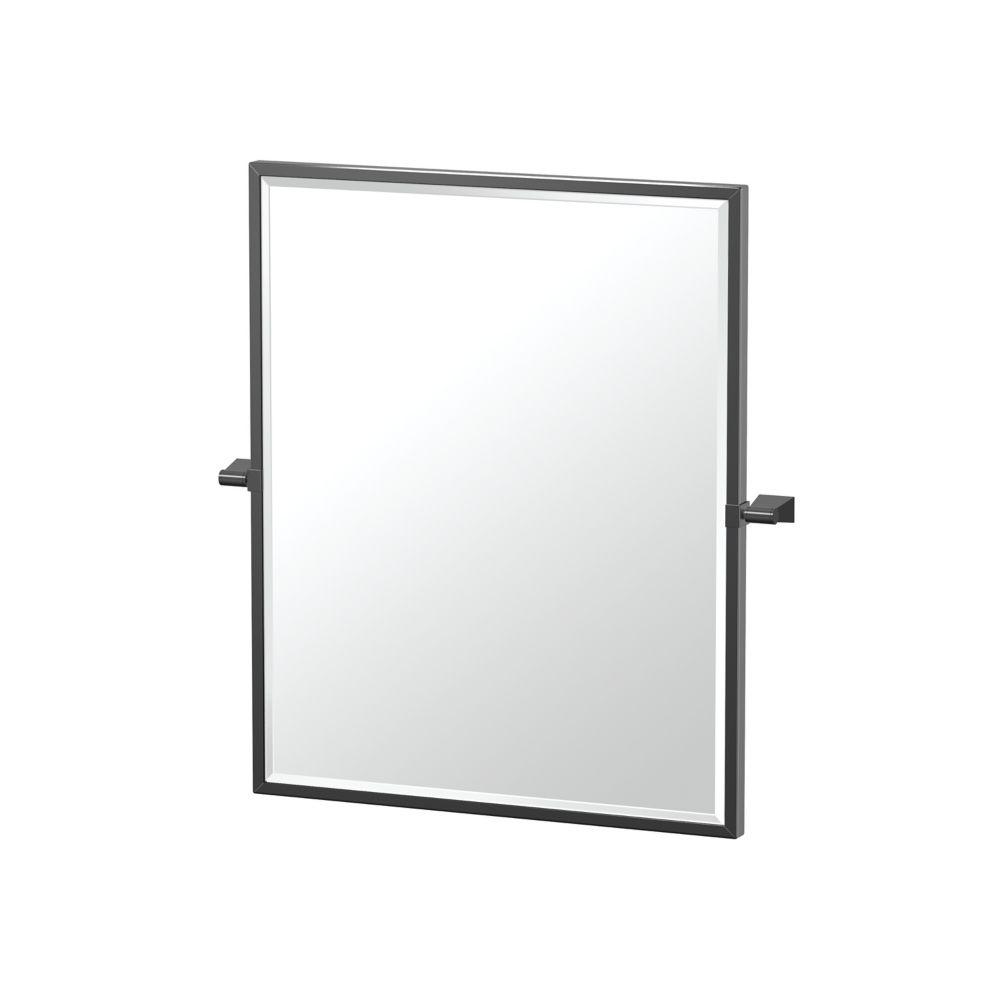 Gatco Bleu 25 inch H Framed Rectangle Mirror Matte Black