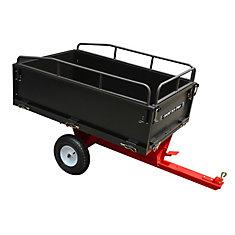 Cart Dump 14 cu. ft. Tow Behind Dump Cart W/Rails And 16In Tires
