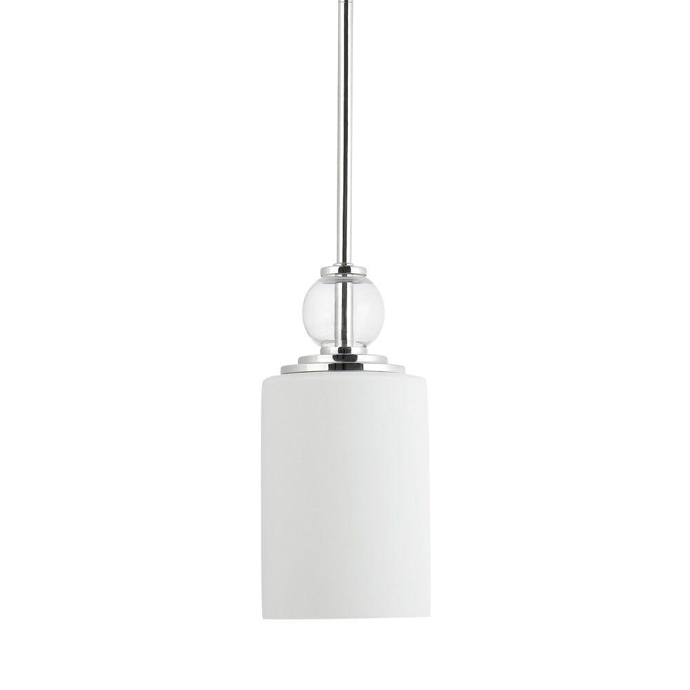 Globe Electric Crystalline 1-Light Polished Chrome Pendant