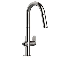 American Standard Beale MeasureFill Touch Single-Handle Pull-Down Sprayer Kitchen Faucet in Stainless Steel