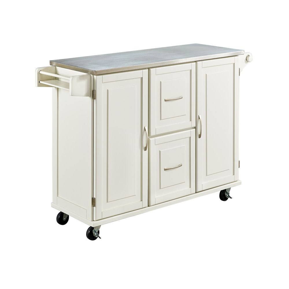 Home Styles Patriot White Kitchen Cart