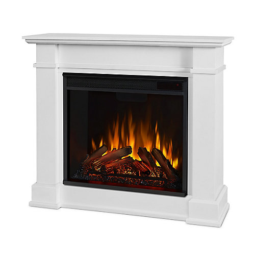 Devin Electric Fireplace in White