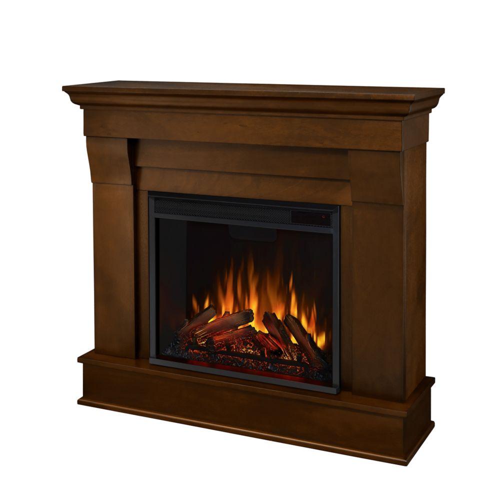 Home Hardware Foyer électrique : Real flame foyer électrique chateau couleur espresso