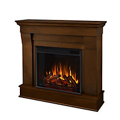 Chateau Electric Fireplace Mantel in Espresso