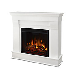 Chateau Electric Fireplace Mantel in White