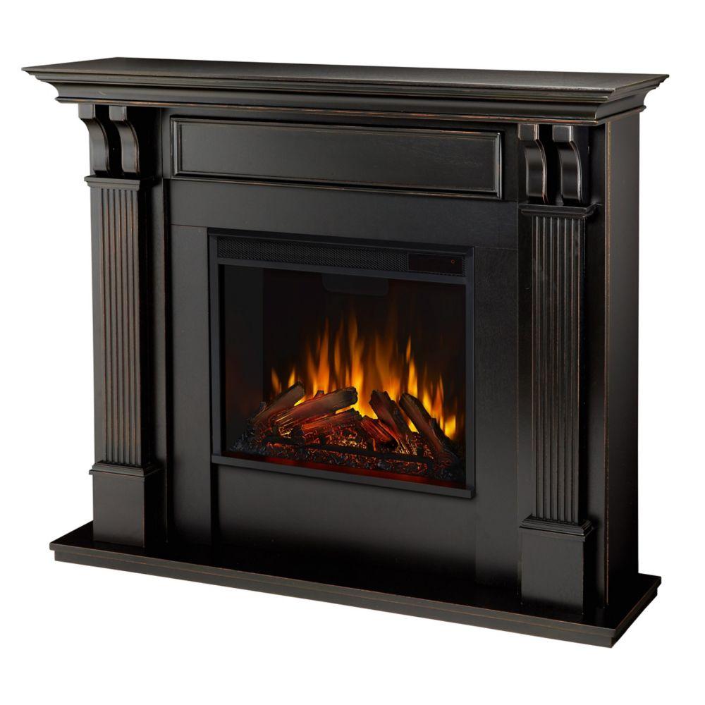 Home Hardware Foyer électrique : Real flame foyer électrique ashley couleur noire home