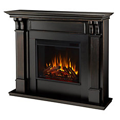 Ashley Electric Fireplace Mantel in Black Wash