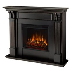 Real Flame Ashley Electric Fireplace Mantel in Black Wash