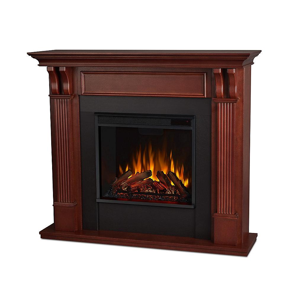 Pleasant Ashley Electric Fireplace Mantel In Mahogany Download Free Architecture Designs Griteanizatbritishbridgeorg