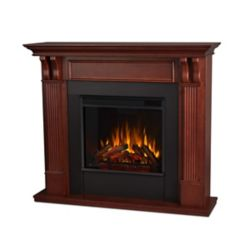 Real Flame Ashley Electric Fireplace Mantel in Mahogany