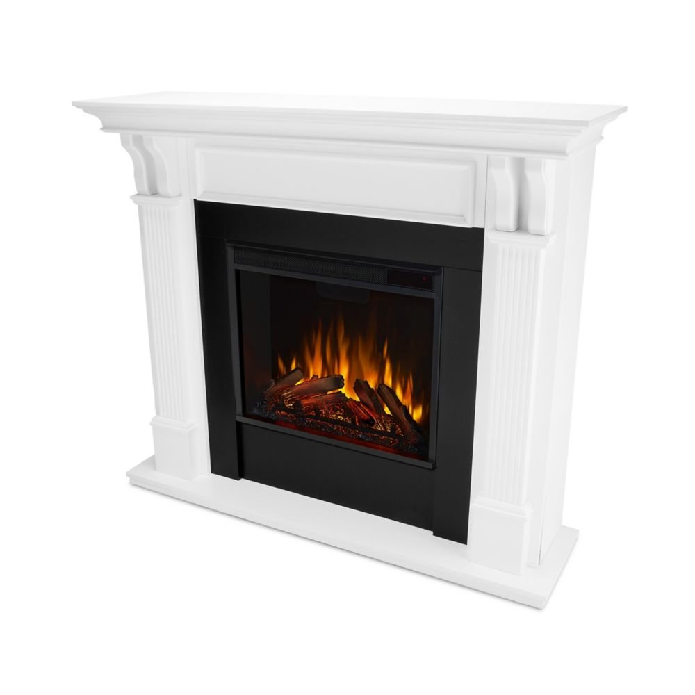 Real Flame Ashley Electric Fireplace Mantel in White
