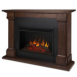 Real Flame Callaway Grand Electric Fireplace in Chestnut Oak