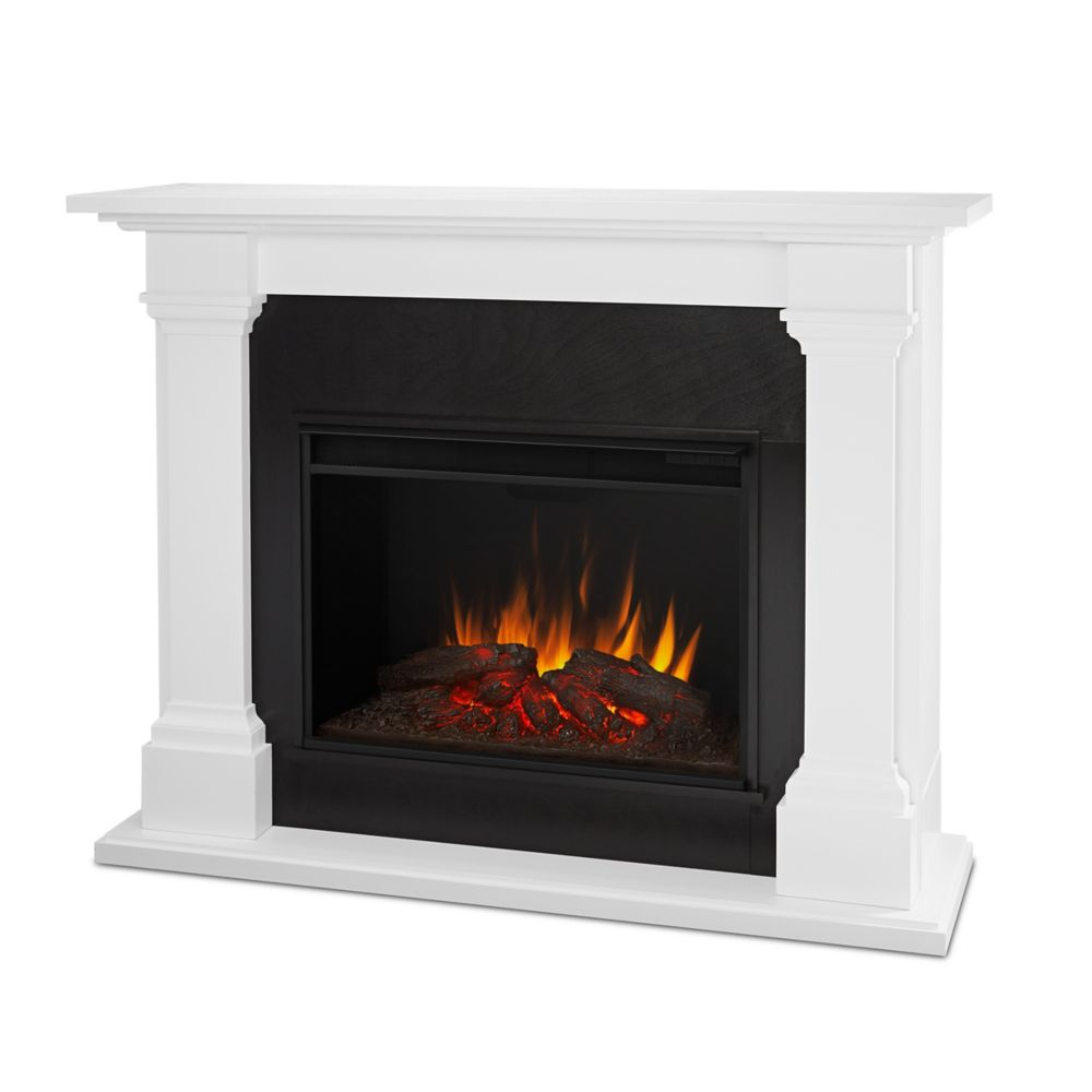 Real Flame Callaway Grand Electric Fireplace in White