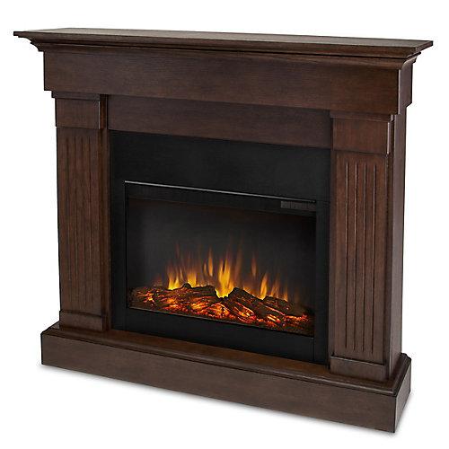 Crawford Slim Line Electric Fireplace in Chestnut Oak