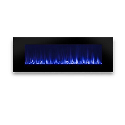 Dinatale Wall Hung Electric Fireplace in Black