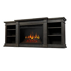Eliot Grand Entertainment Electric Fireplace in Antique Gray
