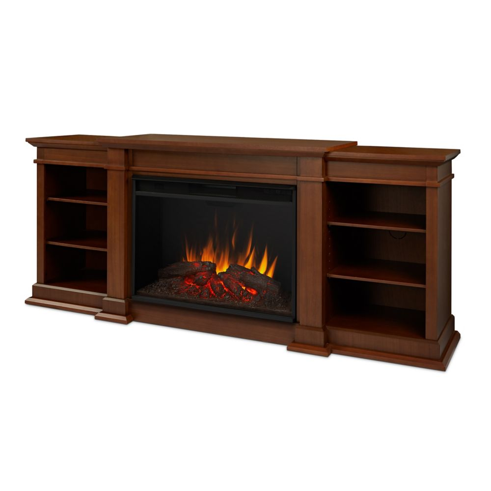 Real Flame Eliot Grand Entertainment Electric Fireplace in Vintage Black Maple