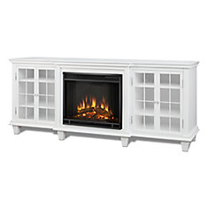 Marlowe Entertainment Electric Fireplace in White