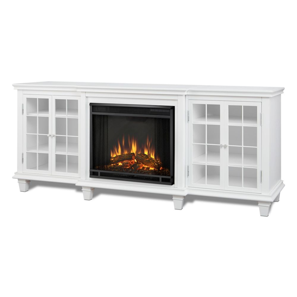 Real Flame Marlowe Entertainment Electric Fireplace in White