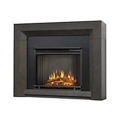 Hughes Electric Fireplace Mantel in Gray