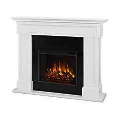 Thayer Electric Fireplace in White