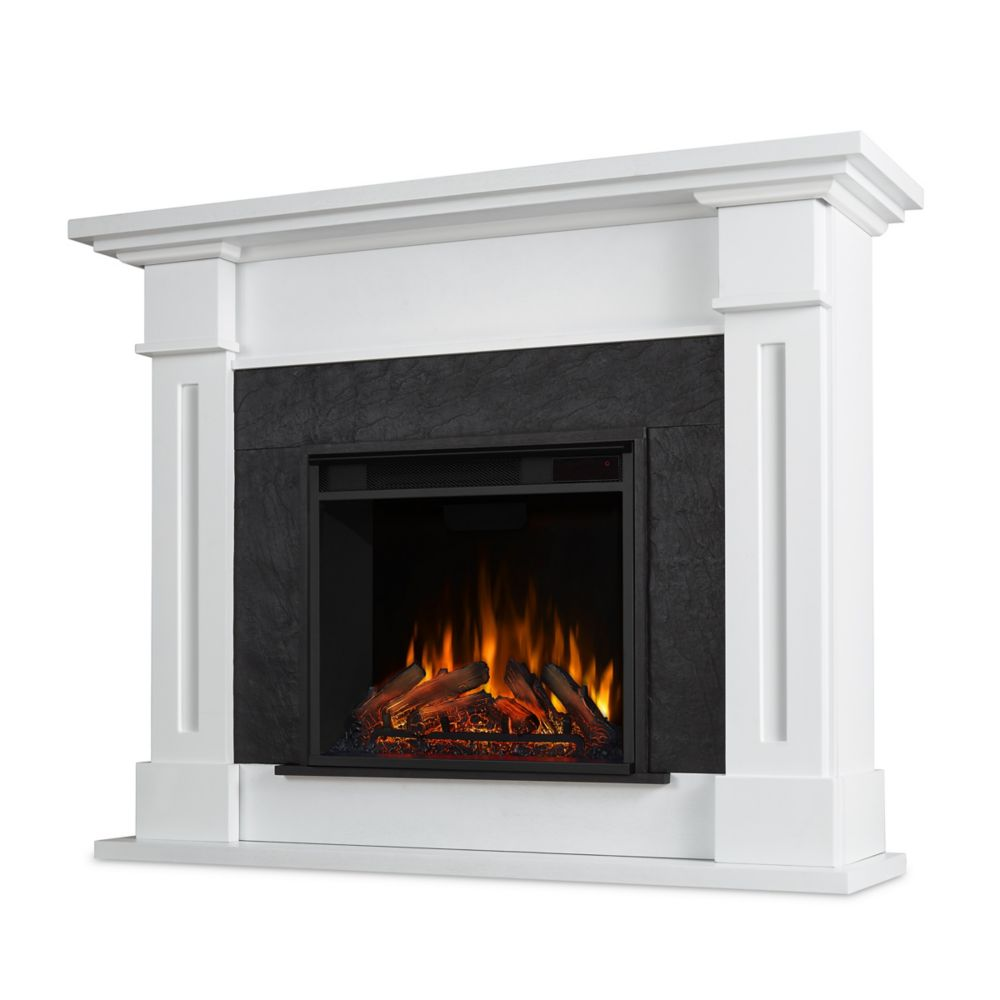 Real Flame Kipling Electric Fireplace in White