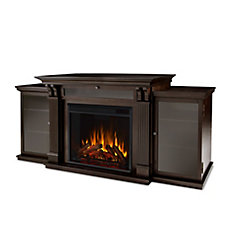 Calie Entertainment Electric Fireplace in Dark Walnut