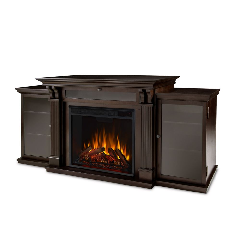 Real Flame Calie Entertainment Electric Fireplace in Dark Walnut