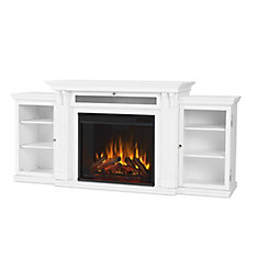 Calie Entertainment Electric Fireplace in White