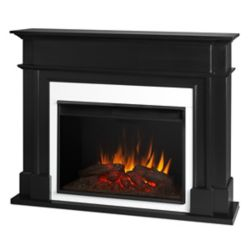 Real Flame Harlan Grand Electric Fireplace in Black