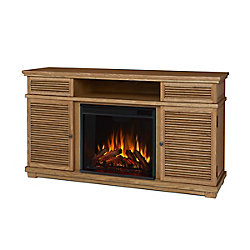 Real Flame Cavallo Entertainment Electric Fireplace in Elm
