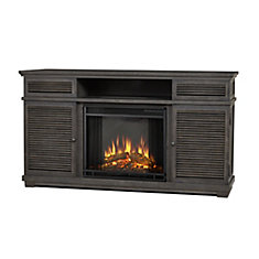 Cavallo Entertainment Electric Fireplace in Gray