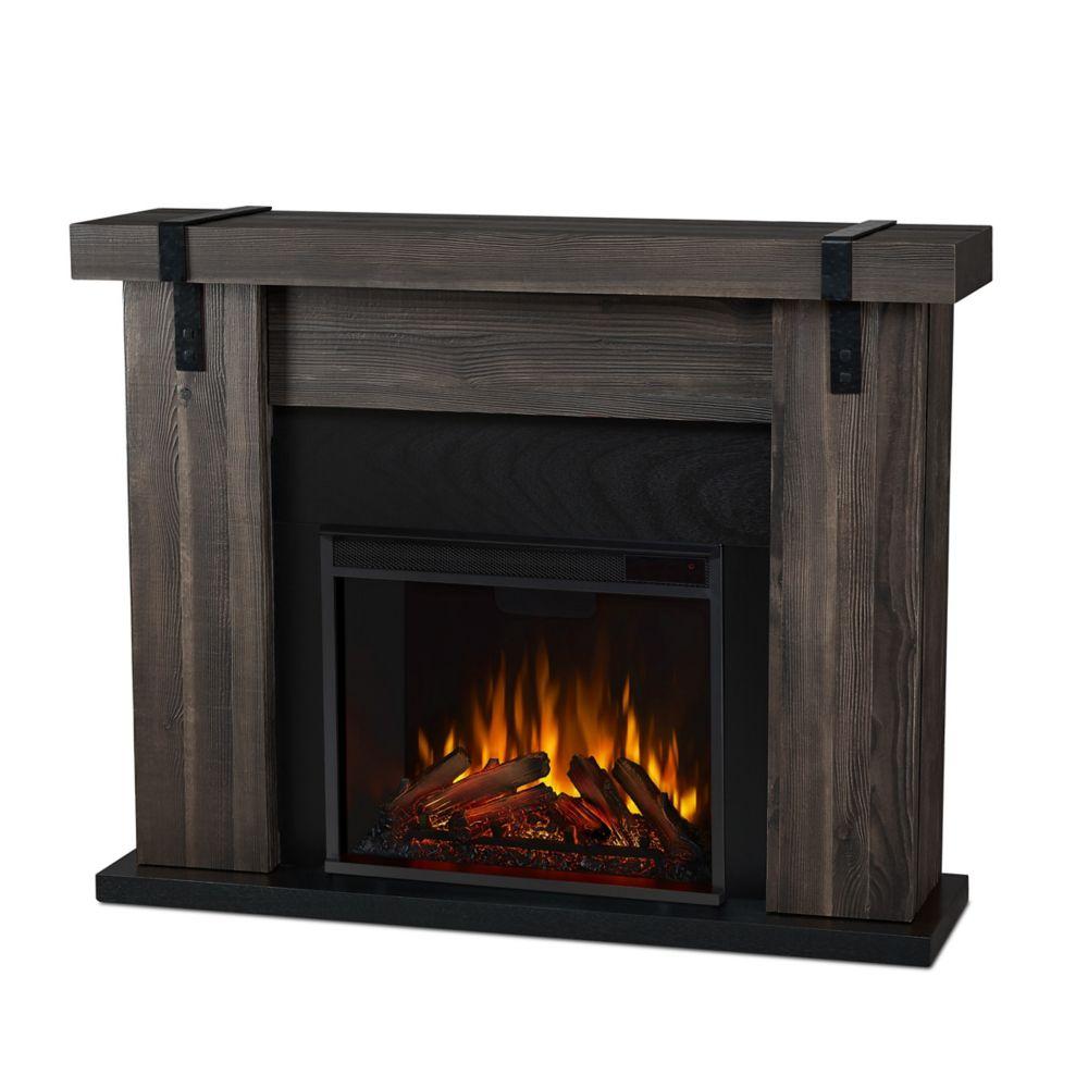 Home Depot Foyer Electrique Blanc : Real flame foyer électrique aspen fini bois de grange