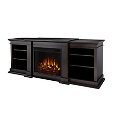 Fresno Electric Fireplace in Dark Walnut