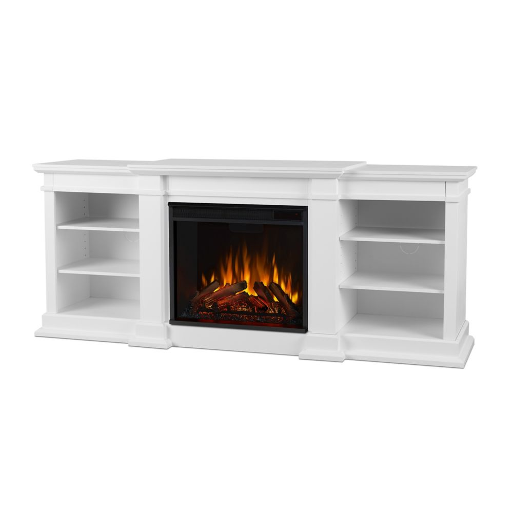 Fresno Electric Fireplace in White