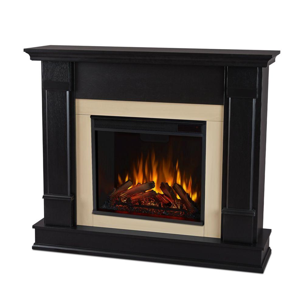 Silverton Electric Fireplace in Black