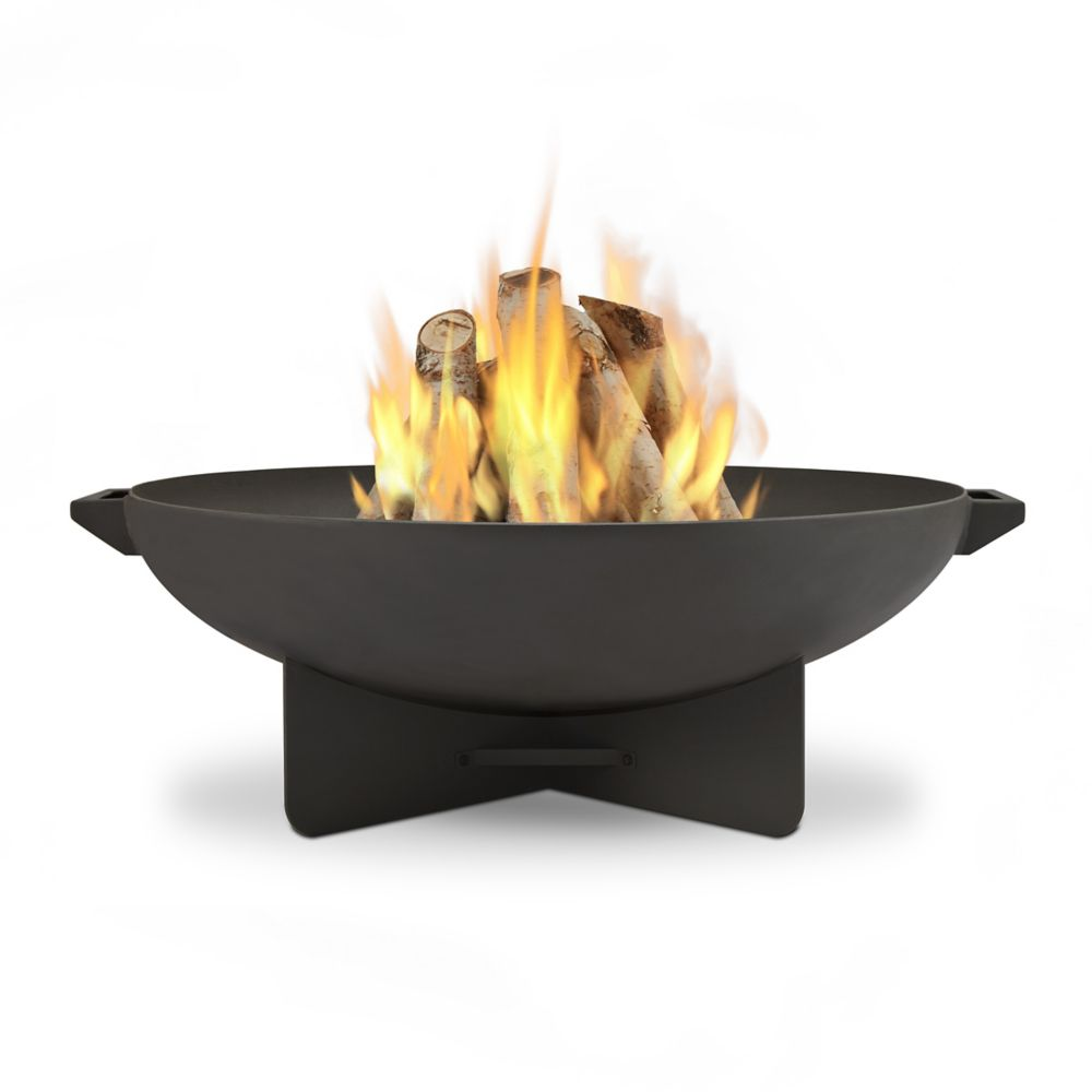 Real Flame Anson Wood Burning Fire Bowl in Grey