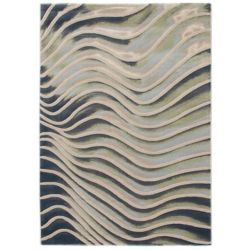 ECARPETGALLERY Abstract Green Grey 3 ft. 11-inch x 5 ft. 7-inch Indoor Area Rug