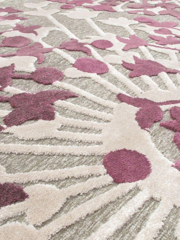 ECARPETGALLERY Cadiz Dark Pink Ivory 5 ft. 3-inch x 7 ft. 6-inch Indoor Area Rug