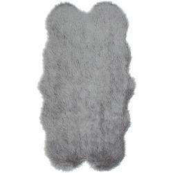 ECARPETGALLERY Le Royale Grey Faux Fur 3 ft. 2-inch x 5 ft. 9-inch Indoor Area Rug