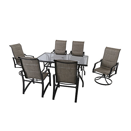 Statesville 7-Piece Padded Sling Outdoor Patio Dining Set