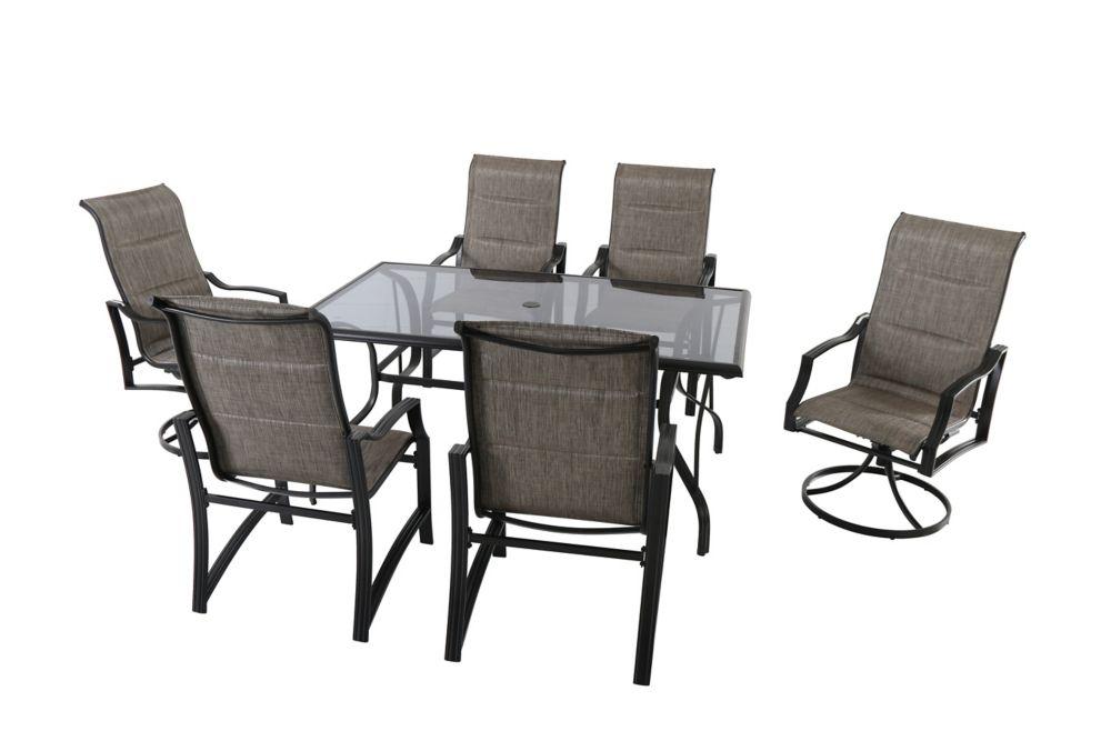 Hampton Bay Statesville 7-Piece Padded Sling Outdoor Patio Dining Set