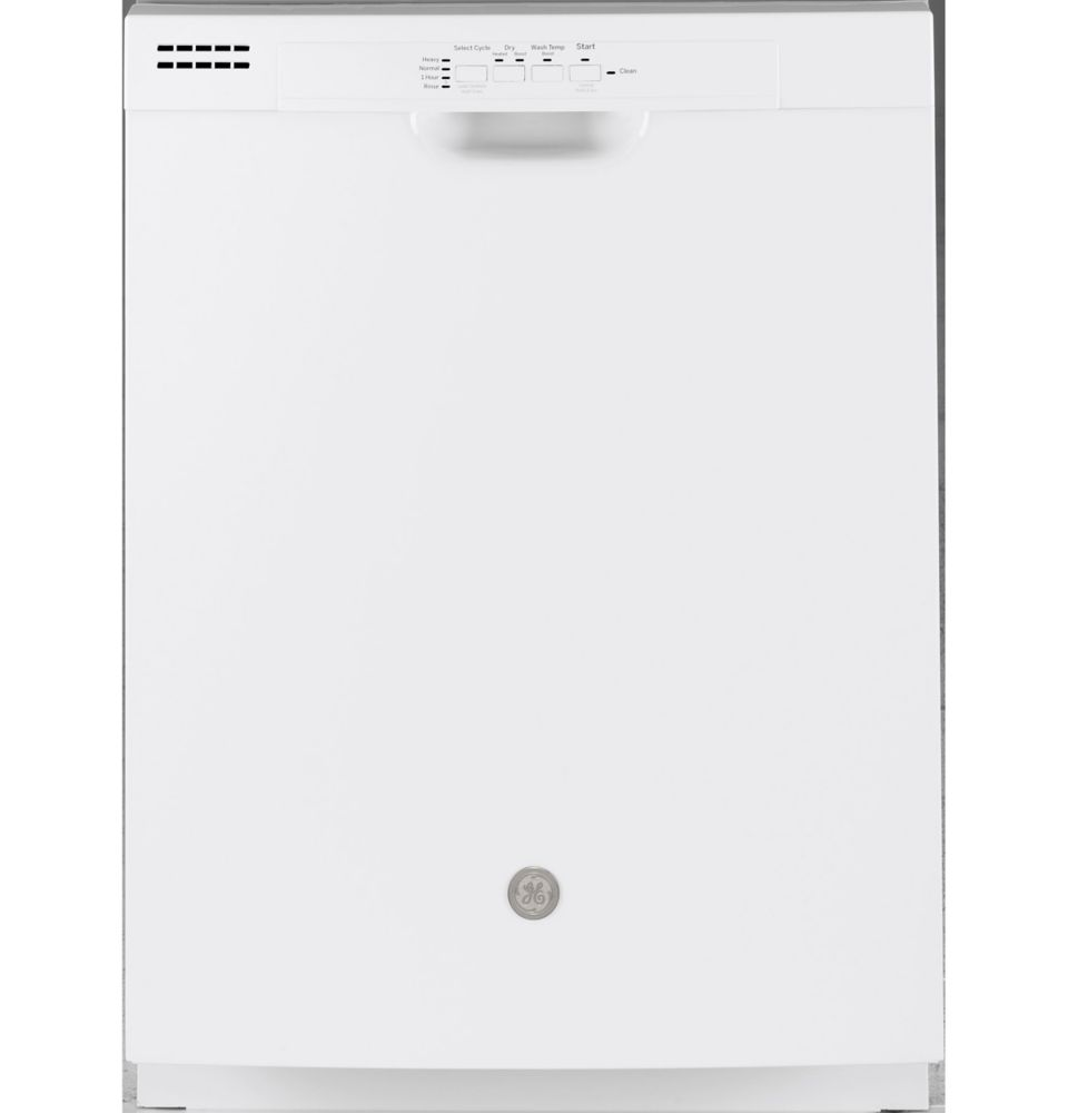 GE 24-inch Front Control Tall Tub Built-In Dishwasher in White