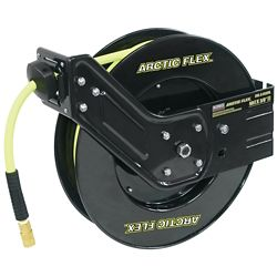 Performance Plus 50 ft. X 3/8 inch retractable Air Hose Reel with Hybrid Polymer Air Hose
